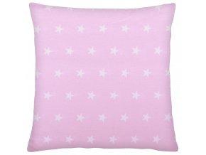 Bavlněný polštář STELLE růžová 40x40 cm, Mybesthome