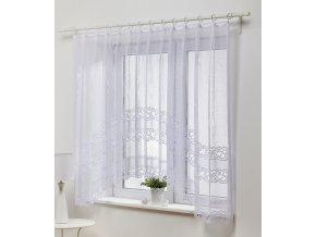 Dekorační oblouková krátká záclona IVANKA bílá 300x150 cm MyBestHome