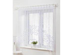 Dekorační oblouková krátká záclona JOLA bílá 300x150 cm MyBestHome