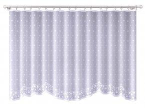 Dekorační oblouková krátká záclona SNIEZSKA bílá 300x150 cm MyBestHome