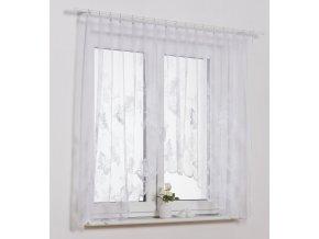 Dekorační oblouková krátká záclona MOTÝLCI bílá 300x150 cm MyBestHome