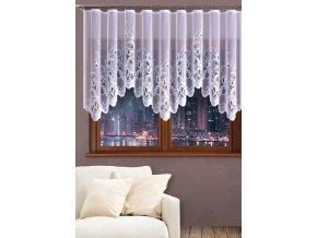 Dekorační oblouková krátká záclona JUSTI bílá 300x120 cm MyBestHome