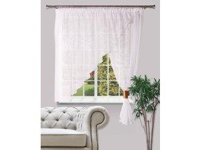 Dekorační oblouková krátká záclona KARINA bílá 300x160 cm MyBestHome