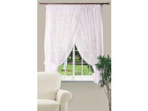 Dekorační oblouková krátká záclona IRINA bílá 300x160 cm MyBestHome