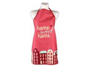 Kuchyňská bavlněná zástěra MY HOME 60x75 cm, červená, Essex, 95% bavlna