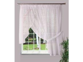 Dekorační oblouková krátká záclona ALINA bílá 300x160 cm MyBestHome