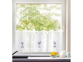 Dekorační krátká záclonka do kuchyně LAWENDULE 45x156 cm MyBestHome