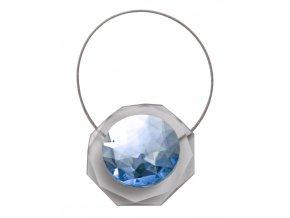 Dekorační ozdobná spona na závěsy s magnetem LUISA, modrá, 5,5x5,5 cm Mybesthome