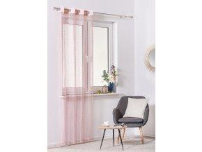 Dekorační síťovaná záclona MAGLIA růžová 140x245 cm MyBestHome
