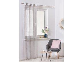 Dekorační síťovaná záclona MAGLIA šedá 140x245 cm MyBestHome