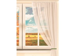 Dekorační krátká záclona s řasící páskou DIANA smetanová 130x160 cm MyBestHome
