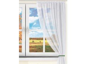 Dekorační krátká záclona s řasící páskou DIANA bílá 130x160 cm MyBestHome