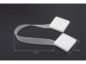 Dekorační ozdobná spona na závěsy s magnetem CUBE bílá, 3,5x3,5 cm Mybesthome