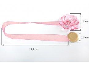 Dekorační ozdobná spona na závěsy s magnetem VALERIA, růžová, Ø 5 cm 2 kusy v balení Mybesthome