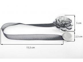Dekorační ozdobná spona na závěsy s magnetem VALERIA, šedá, Ø 5 cm Mybesthome