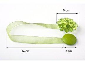 Dekorační ozdobná spona na závěsy s magnetem MONICA, zelená, Ø 5 cm 2 kusy v balení Mybesthome