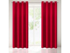 Dekorační závěs SEINA červená 1x140x250 cm MyBestHome