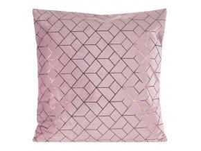 Polštář IRENE růžová 45x45 cm Mybesthome