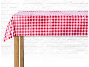PVC ubrus COLOR 150x220 cm červená/bílá ESSEX