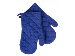 Kuchyňské bavlněné rukavice chňapky MONO modrá, 100% bavlna 19x30 cm Essex