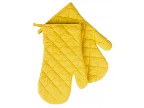 Kuchyňské bavlněné rukavice chňapky MONO žlutá, 100% bavlna 19x30 cm Essex