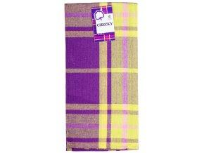 Utěrka bavlněná CHECKY fialová 45x65 cm Essex