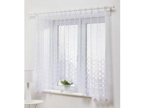 Dekorační oblouková krátká záclona MONIA bílá 300x150 cm MyBestHome