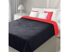Přehoz na postel VELVET 220x240 cm černá/červená Mybesthome