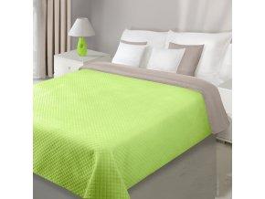 Přehoz na postel VELVET 220x240 cm limet/béžová Mybesthome