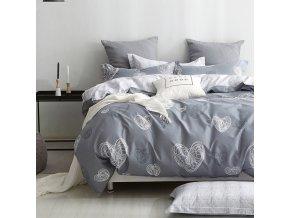 Povlečení LOVERS 100% bavlna 1x 140x200 cm, 1x povlak 70x80 cm MyBestHome