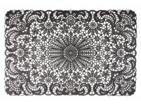 Prostírání LACE černá 45x30 cm Mybesthome