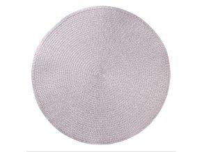 Prostírání kulaté GLITTER stříbrná Ø 38 cm Mybesthome