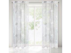 Dekorační vzorovaná záclona AIKA krémová 140x250 cm MyBestHome