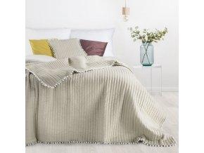 Přehoz na postel MIAMI 220x240 cm béžová Mybesthome