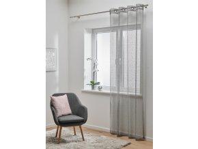Dekorační luxusní záclona BRAVA šedá 140x245 cm MyBestHome