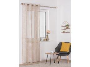 Dekorační luxusní záclona SALAL béžová 140x245 cm MyBestHome