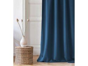 Dekorační závěs s řasící páskou COMO tmavě modrá 140x250 cm MyBestHome