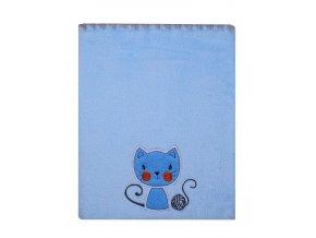 Dětská deka s aplikací ČIČI modrá 80x90 cm Mybesthome