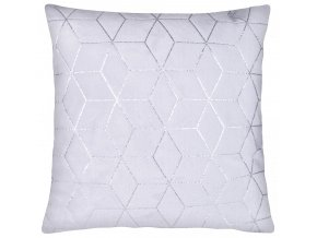 Polštář SIMONE mikrovlákno světle šedá Essex 40x40cm, geometrický vzor