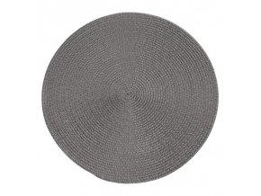Prostírání kulaté JUDYTA šedá Ø 38 cm Mybesthome