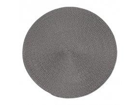 Prostírání kulaté MELANIE tmavě šedá Ø 38 cm Mybesthome