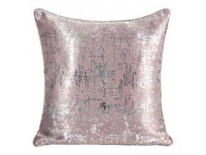 Polštář SHIRA růžová/stříbrná 40x40 cm Mybesthome