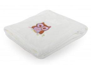 Dětská deka s výšivkou MILLY sovička 75x100 cm Essex