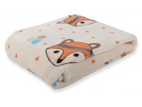 Dětská deka CARTOON PETS liška 80x110 cm Essex