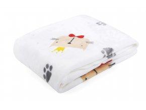 Dětská deka ANIMAL FACES kočička 80x110 cm Essex