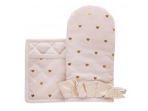 Kuchyňský set rukavice/chňapka TULLIA 15x30 cm/20X20 cm HOME & YOU, 100% bavlna