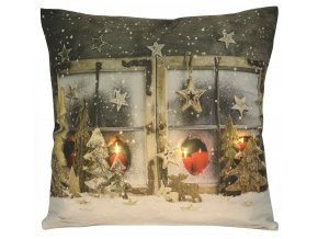 Polštář CHRISTMAS LIGHT 04 MyBestHome 40x40cm zimní motiv - svítící polštářek