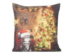 Polštář CHRISTMAS LIGHT 05 MyBestHome 40x40cm zimní motiv - svítící polštářek