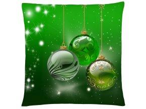 Polštář CHRISTMAS GREEN BALLS Mybesthome 40x40 cm