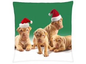 Polštář s motivem vánočních psích kamarádů Mybesthome 40x40 cm